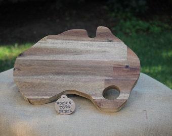 Handmade Wooden 'Australia' Breadboard