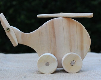 Harry - Handmade Wooden Toy Helicopter