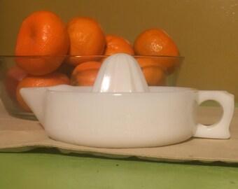 Vintage milk glass Sunkist citrus reamer