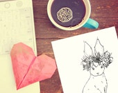 Bunny Bride Downloadable Template or coloring Sheet