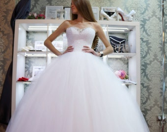 Kate wedding dress,  Ball gown  wedding dress,  puffy wedding dress, shine  wedding dress, beading  wedding dress