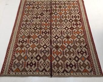 Cicim from Balıkesir/Turkey | 165*220 cm | Anatolian vintage cicim | handwoven cicim | -43