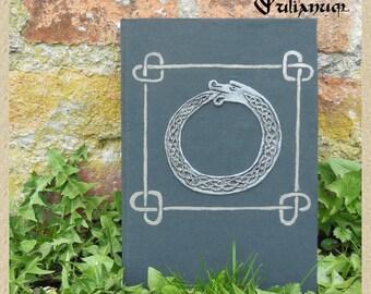 Celtic knotwork Ouroboros journal