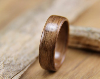 Walnut Bentwood Ring - Handcrafted Wooden Ring - Classic Wood Ring - Anniversary gift