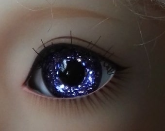 Glitter Blue Doll Eyes for BJD Dollfie 14mm 16mm 18mm 20mm 22mm