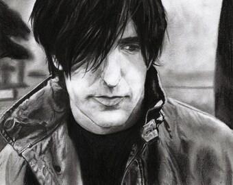 Trent Reznor Realistic Pencil Portrait Print
