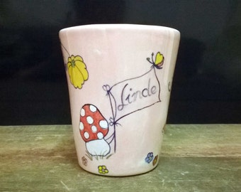 Princess Cup name Cup colorful, hand-painted