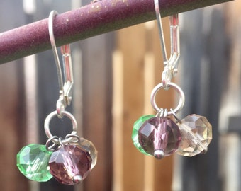 Crystal cluster earrings