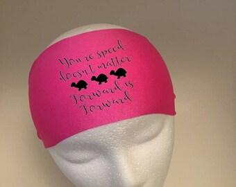 Running Headband ~Yoga Headband~ Workout Headband- forward is forward
