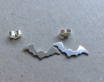 bat sterling silver stud earring