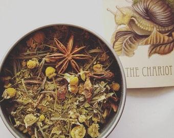 The Chariot - Meditative Tarot Tea - Healing Tea - Herbal Tea