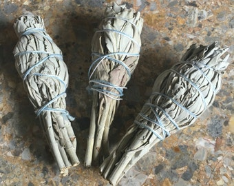 Sage Smudge Stick small, Space Cleansing Ritual