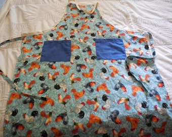 Chef apron with chickens