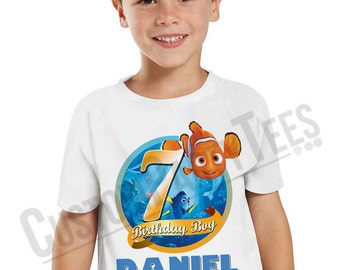Finding Nemo Birthday Shirt Add Name & AGE Personalized Finding Dory Birthday T-Shirt LL 02