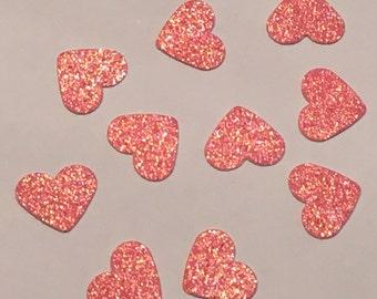200 Pink Heart Confetti Pink Confetti Heart Confetti Glitter Confetti Shower Confetti Baby Confetti Wedding Confetti Birthday Confetti