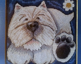embroidered painting, embroidery, gift, dog