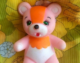 Vintage Squeaky Toy Bear- 1980's