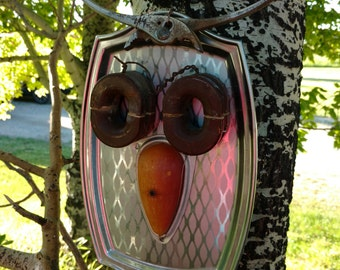 Upcycled Metal Owl Art