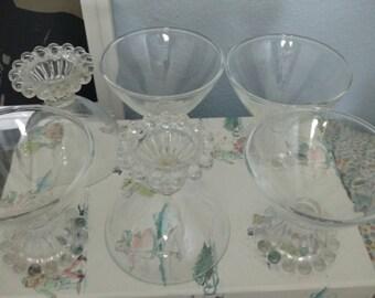 Set of 6 Vintage Dessert Glasses