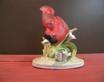 LEFTON cardinal head down decorative figurine KW 464