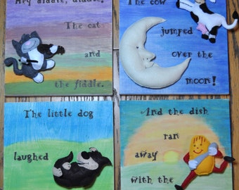Hey Diddle Diddle! Nursery Rhyme Art
