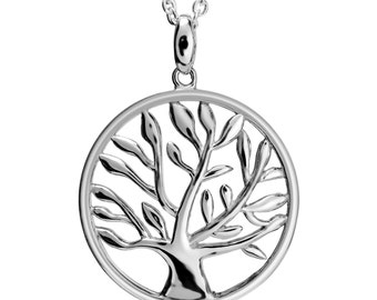 925 Sterling Silver Tree of Life Necklace Charm