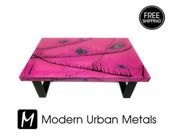 urban coffee table modern industrial loft furniture commercial retro abstract art metal