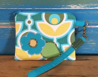 wrist wallet.  flower