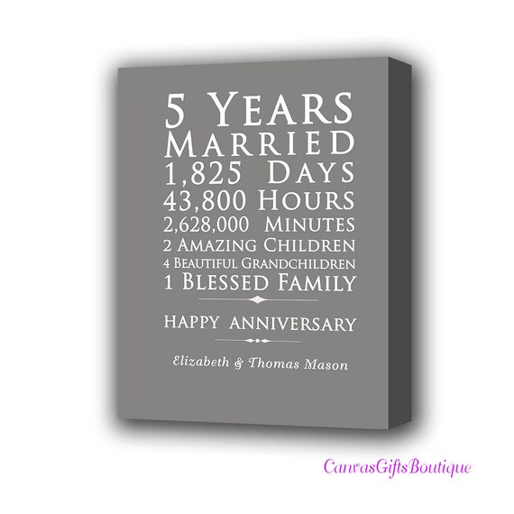 5th Year Wedding Anniversary Gift: 5th Year Anniversary Gift Wood Wedding Anniversary