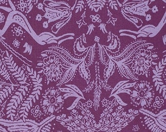 "Amy Butler designs  ""Bright Heart""  Oh Dear Cotton Fabric in Plum"