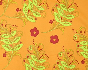 "Vicki Payne For ""Your Home Collection"" Cotton Sateen ""Branches""  in Pumpkin Decorator Width 54/55"""
