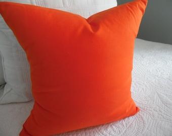 PUMPKIN ORANGE.Pillow cover.Orange.Halloween.Fall.Boys Room.Home Decor.Bedroom Decor.