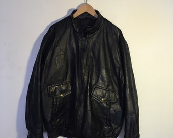 Vintage 90's Leather Patchwork Jacket