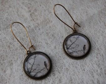 Earrings pendant BIRD