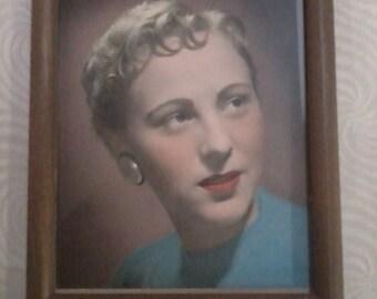 Vintage Hand Painted Portrait