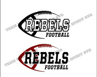 Rebels Side Football Download Files - SVG, DXF, EPS, Silhouette Studio, Vinyl Cut Files, Digital Cut Files -Use with Cricut and Silhouette