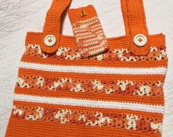Shopping/Beach bag w/ matching sunglasses case