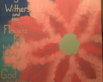 Bible Verse Flower Painting