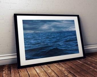 Fishing Boat in Half Moon Bay - Fine Art Print - 8x10 11x16, Landscape Photograph