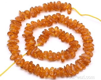 Yellow amber beads, 5-8mm chip, gemstone strand, full beads strand, amber irregular chip beads stone wholesale jewelry supply, AMB4020