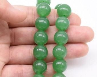 Aventurine beads, 12m round, natural stone beads, round gemstone beads, A green stone beads, light aventurine beads, full strand, AVT2070