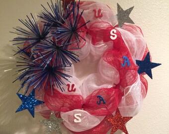 Fourth of July Wreath