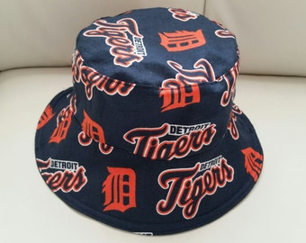 Detroit Tigers/Blue Jean  Bucket Hat Reversible
