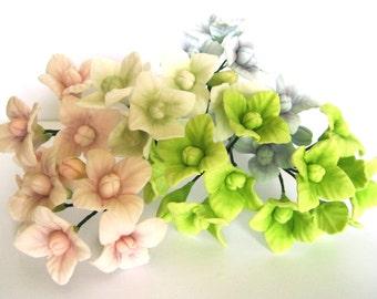 Hydrangeas, Small - gum paste filler flowers sugar paste cake toppers cake decoration