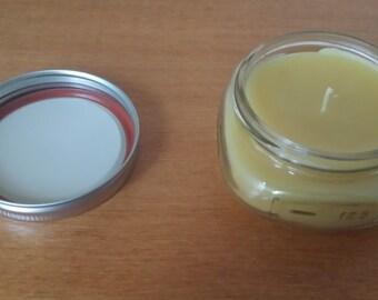Yellow Beeswax Mason Jar Candle - Free Shipping
