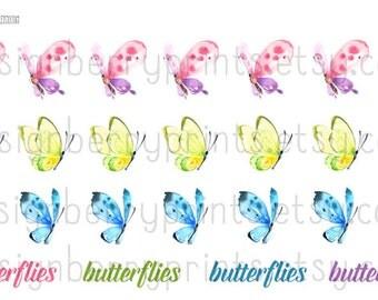 Butterfly - Planner, Sticker, Cute, Kawaii, Pink, PDCODE0018