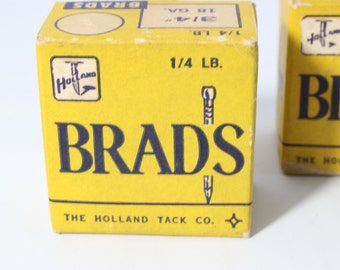 "Brads Nails 3/4"" The Holland Tack Co. Conn USA"