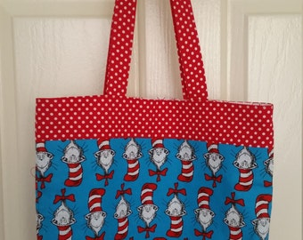 SALE 20% off - Cat In The Hat Tote Bag