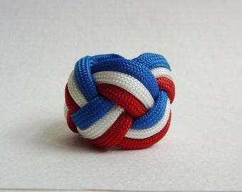 Scout Woggle Turk Head Knot Neckercheif Scarf Slide Cub Boy Venture Handmade