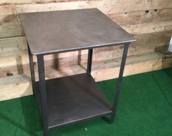 Industrial Steel Table with Shelve